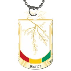 Coat Of Arms Of Republic Of Guinea  Dog Tag (one Side) by abbeyz71