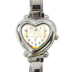 Coat Of Arms Of Republic Of Guinea  Heart Italian Charm Watch