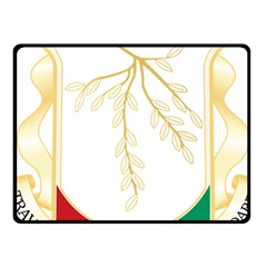 Coat Of Arms Of Republic Of Guinea  Fleece Blanket (small) by abbeyz71