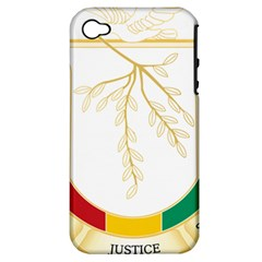 Coat Of Arms Of Republic Of Guinea  Apple Iphone 4/4s Hardshell Case (pc+silicone)