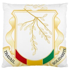 Coat Of Arms Of Republic Of Guinea  Large Flano Cushion Case (one Side)