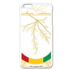 Coat Of Arms Of Republic Of Guinea  Apple Iphone 6 Plus/6s Plus Enamel White Case