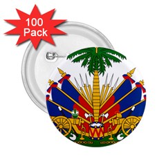 Coat Of Arms Of Haiti 2 25  Buttons (100 Pack)