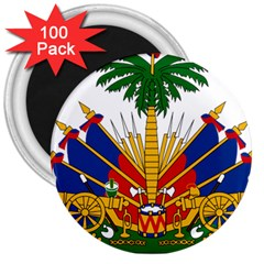 Coat Of Arms Of Haiti 3  Magnets (100 Pack) by abbeyz71