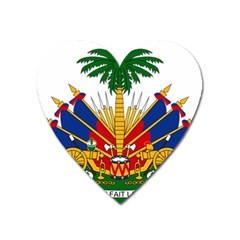 Coat Of Arms Of Haiti Heart Magnet by abbeyz71