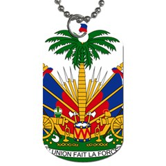Coat Of Arms Of Haiti Dog Tag (two Sides) by abbeyz71