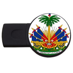 Coat Of Arms Of Haiti Usb Flash Drive Round (2 Gb)