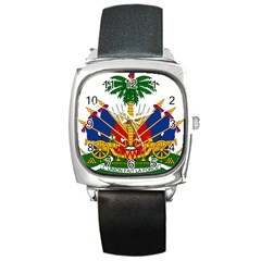 Coat Of Arms Of Haiti Square Metal Watch by abbeyz71