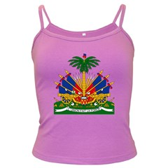 Coat Of Arms Of Haiti Dark Spaghetti Tank