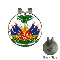 Coat Of Arms Of Haiti Hat Clips With Golf Markers