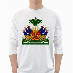 Coat Of Arms Of Haiti White Long Sleeve T Shirts