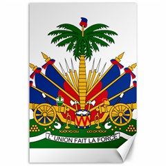Coat Of Arms Of Haiti Canvas 24  X 36