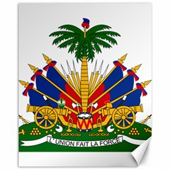Coat Of Arms Of Haiti Canvas 11  X 14   by abbeyz71