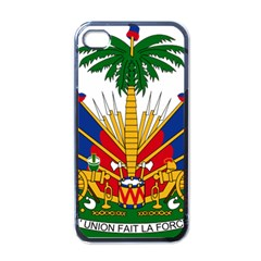 Coat Of Arms Of Haiti Apple Iphone 4 Case (black) by abbeyz71