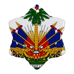 Coat Of Arms Of Haiti Snowflake Ornament (two Sides)
