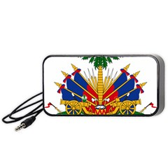 Coat Of Arms Of Haiti Portable Speaker (black) by abbeyz71