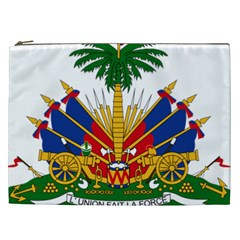 Coat Of Arms Of Haiti Cosmetic Bag (xxl)