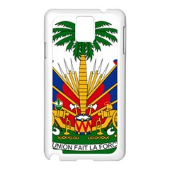 Coat Of Arms Of Haiti Samsung Galaxy Note 3 N9005 Case (white) by abbeyz71