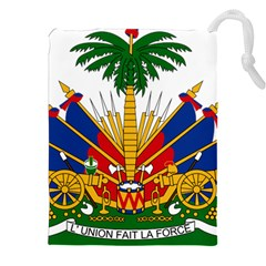 Coat Of Arms Of Haiti Drawstring Pouches (xxl) by abbeyz71