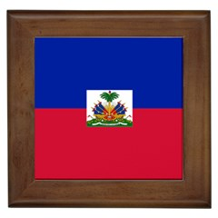 Flag Of Haiti  Framed Tiles by abbeyz71