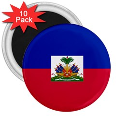 Flag Of Haiti  3  Magnets (10 Pack)  by abbeyz71