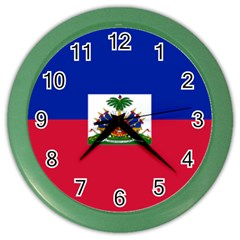 Flag Of Haiti  Color Wall Clocks by abbeyz71