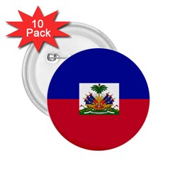 Flag Of Haiti 2 25  Buttons (10 Pack)  by abbeyz71