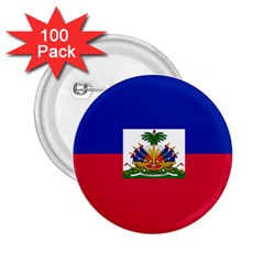 Flag Of Haiti 2 25  Buttons (100 Pack)  by abbeyz71