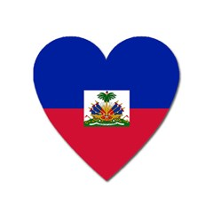 Flag Of Haiti Heart Magnet by abbeyz71