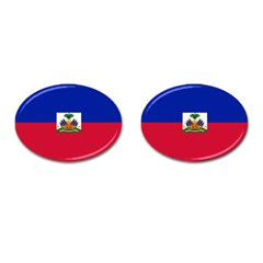 Flag Of Haiti Cufflinks (oval) by abbeyz71