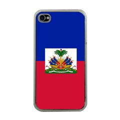 Flag Of Haiti Apple Iphone 4 Case (clear) by abbeyz71