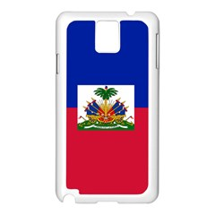Flag Of Haiti Samsung Galaxy Note 3 N9005 Case (white) by abbeyz71