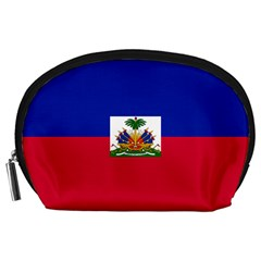 Flag Of Haiti Accessory Pouches (large)