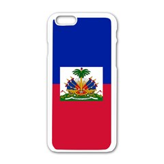 Flag Of Haiti Apple Iphone 6/6s White Enamel Case by abbeyz71