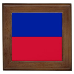 Civil Flag Of Haiti (without Coat Of Arms) Framed Tiles by abbeyz71