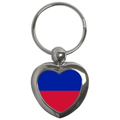 Civil Flag Of Haiti (without Coat Of Arms) Key Chains (heart)  by abbeyz71