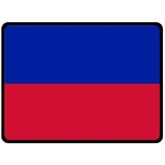 Civil Flag Of Haiti (without Coat Of Arms) Fleece Blanket (large)  by abbeyz71