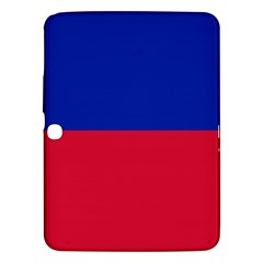 Civil Flag Of Haiti (without Coat Of Arms) Samsung Galaxy Tab 3 (10 1 ) P5200 Hardshell Case  by abbeyz71