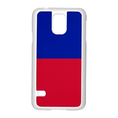 Civil Flag Of Haiti (without Coat Of Arms) Samsung Galaxy S5 Case (white) by abbeyz71