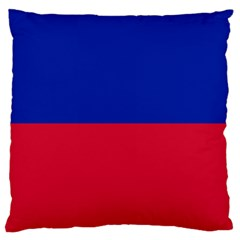 Civil Flag Of Haiti (without Coat Of Arms) Large Flano Cushion Case (two Sides) by abbeyz71
