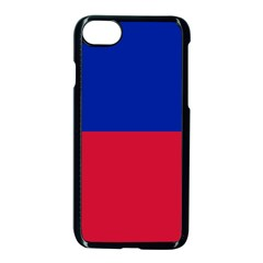 Civil Flag Of Haiti (without Coat Of Arms) Apple Iphone 7 Seamless Case (black) by abbeyz71