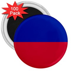 Civil Flag Of Haiti (without Coat Of Arms) 3  Magnets (100 Pack) by abbeyz71