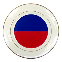 Civil Flag Of Haiti (without Coat Of Arms) Porcelain Plates by abbeyz71