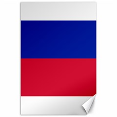 Civil Flag Of Haiti (without Coat Of Arms) Canvas 24  X 36  by abbeyz71