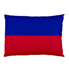 Civil Flag Of Haiti (without Coat Of Arms) Pillow Case by abbeyz71