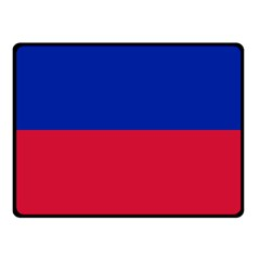 Civil Flag Of Haiti (without Coat Of Arms) Fleece Blanket (small) by abbeyz71