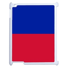 Civil Flag Of Haiti (without Coat Of Arms) Apple Ipad 2 Case (white) by abbeyz71