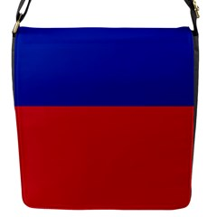 Civil Flag Of Haiti (without Coat Of Arms) Flap Messenger Bag (s)