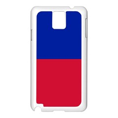 Civil Flag Of Haiti (without Coat Of Arms) Samsung Galaxy Note 3 N9005 Case (white) by abbeyz71