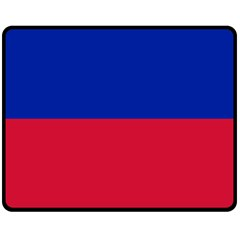 Civil Flag Of Haiti (without Coat Of Arms) Double Sided Fleece Blanket (medium)  by abbeyz71